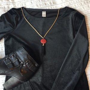 Old Navy Velvet Bodycon Black Mini Dress
